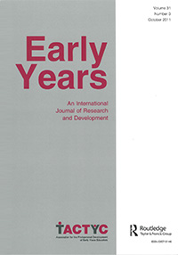 Early Years: International Journal of Research and Development, Volume 31, No. 3: 2011