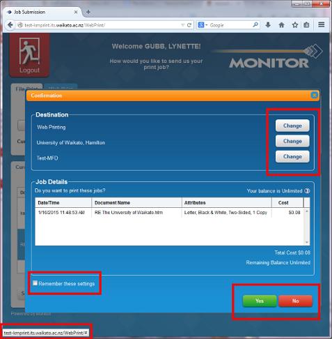 webprint confirm save