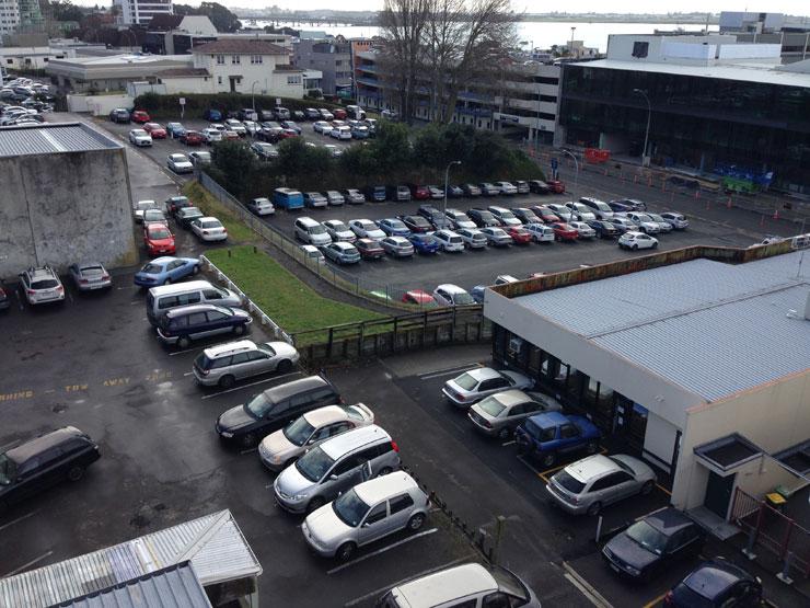 Durham St carpark in central Tauranga