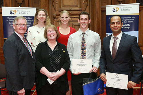 Freemasons Scholarships awarded to Waikato Students