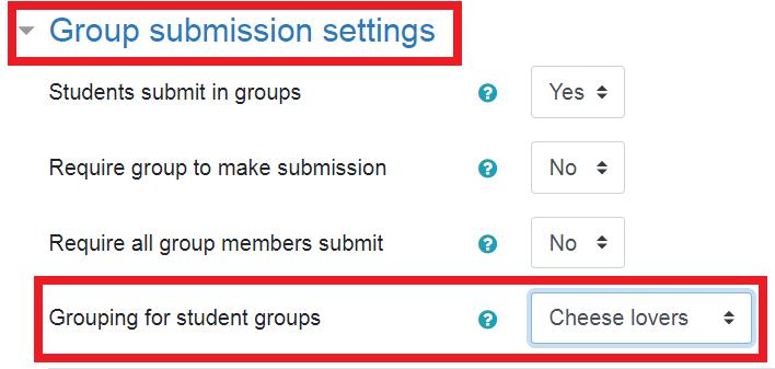select grouping