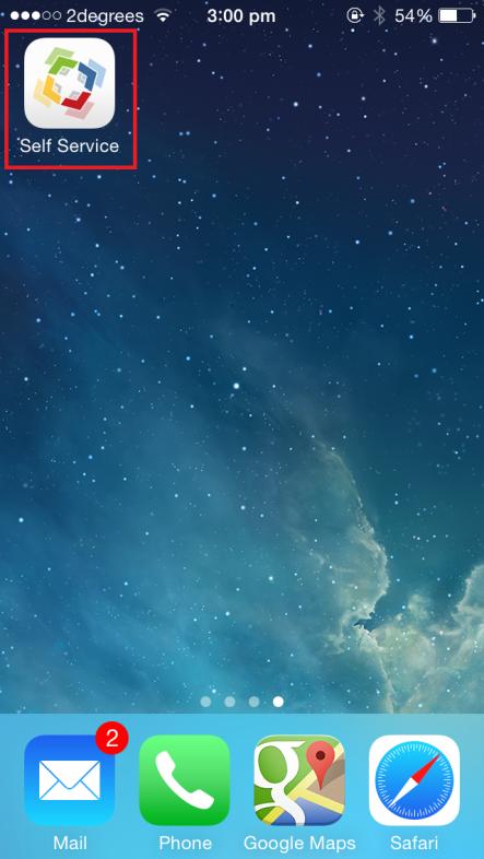 iOS selfservice