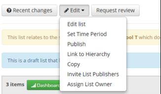 Editing WRL Lists