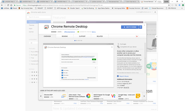 remote desktop chrome extension