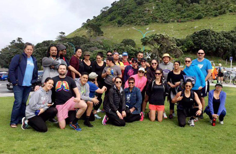 The class of 2016 on their end of year Marae noho to the Mount.