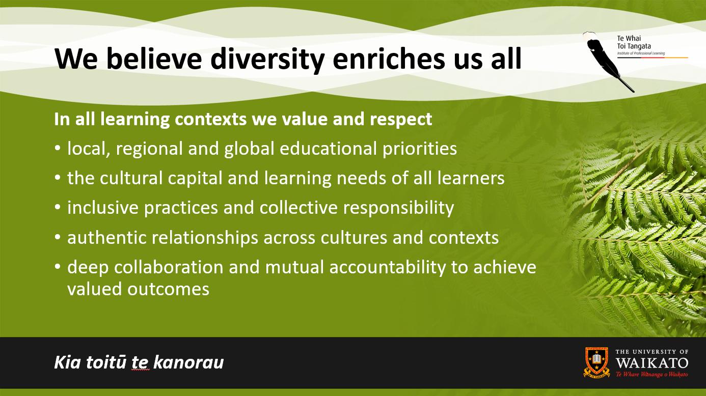 Diversity enriches us all