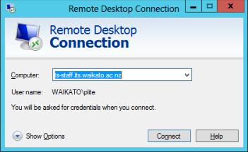 TS-Staff RDP computer name