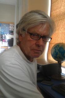 New writer in residence Andrew Sharp