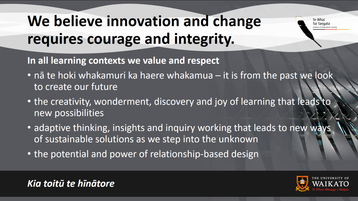 Innovation and change requires courage and integrity