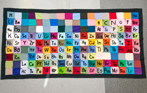 fabric of elements chemists across the country have knitted a giant periodic table in celebration of the international year of chemistry - Periodic Table Fabric