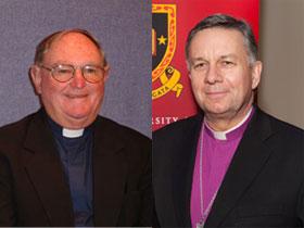 Archbishop Sir David Moxon and Emeritus Bishop Denis Browne