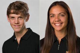 Cellist Matthias Balzat and sportswoman Stacey Waaka.
