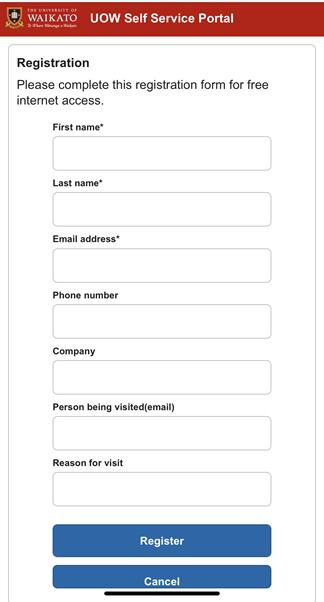 Waikato wifi registration