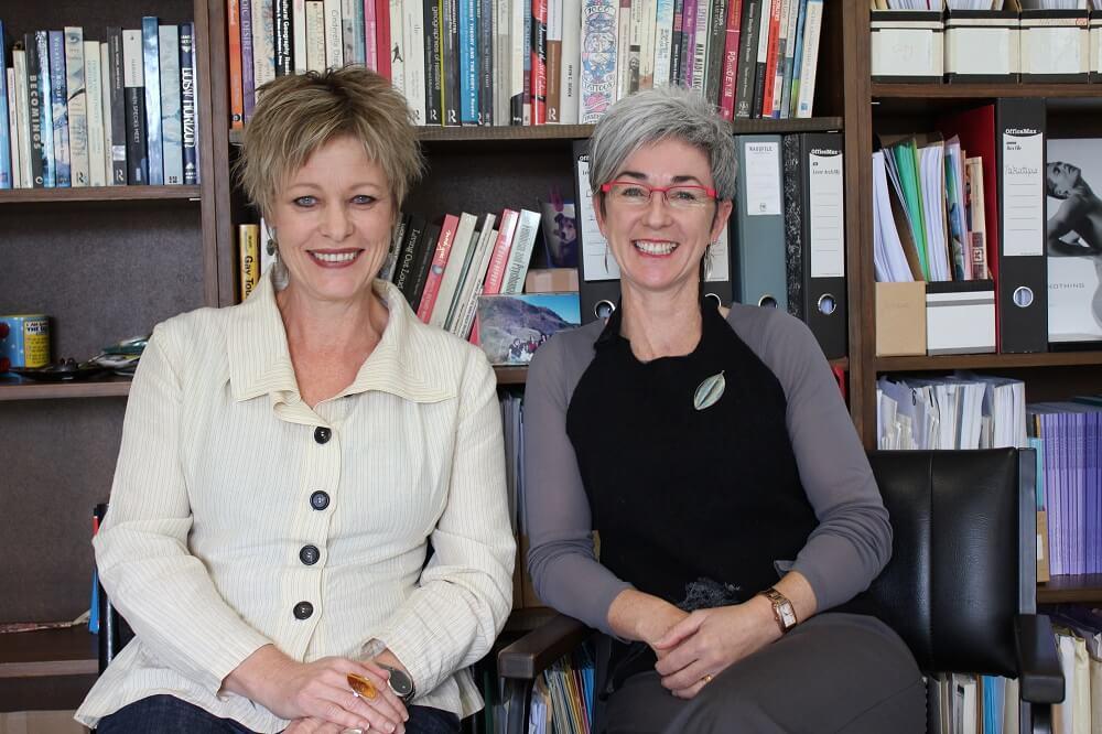 Professors Robyn Longhurst and Lynda Johnston