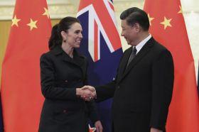 Jacinda Ardern and Xi Jinping