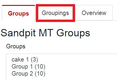 groupings tab