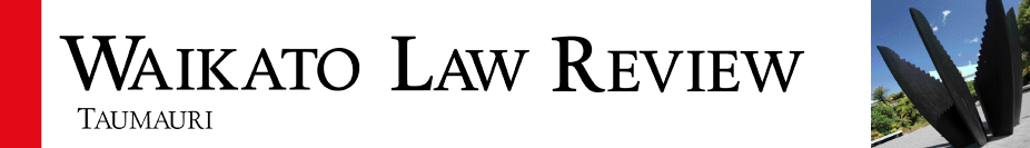Waikato Law Review Banner