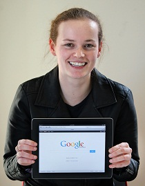 Waikato University student Jojo Stewart can't wait to learn from the experts at Google.