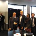 Dr. Ye Chow Kuang with President Max Cortner, SoE staff with Australia's Cheif Scientist Dr. Alan Finkel