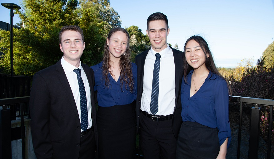 Management School students at Case Competition