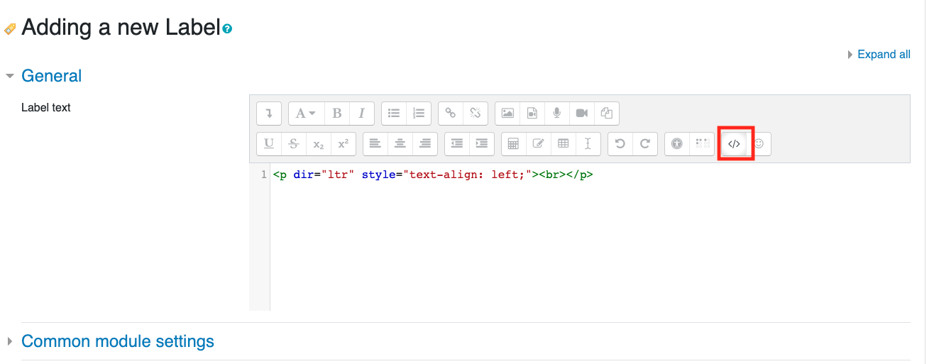 HTML edit buttom