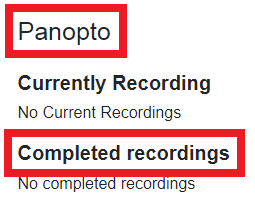 completed recordings