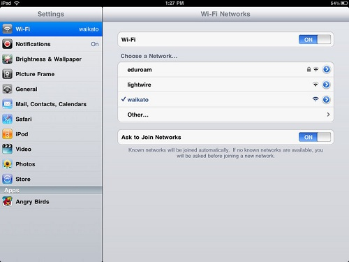 ipad eduroam wifi