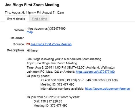 email invite