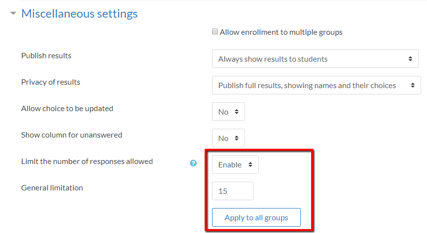 apply to all groups