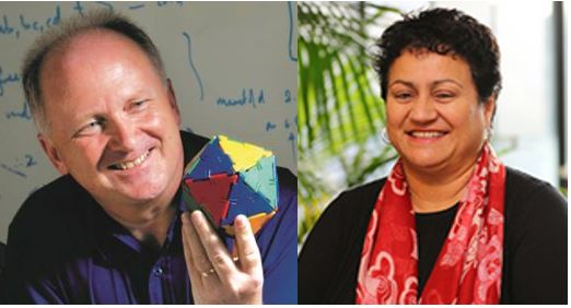 Distinguished Professor Marston Conder and Lynne Harata Te Aika