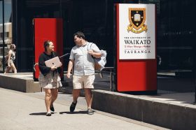 Students outside Tauranga Campus