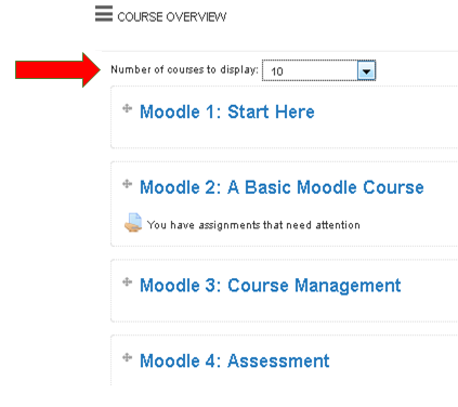 Moodle customise page 3