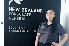 Sidney-Rei Te Maungarongo Stoneham at the New Zealand Consulate General