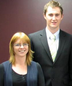 Brenda McCoid and Joshua Blue
