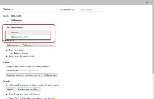 Chrome Add Wireless