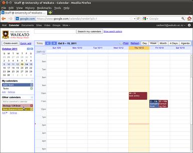 calendars listed