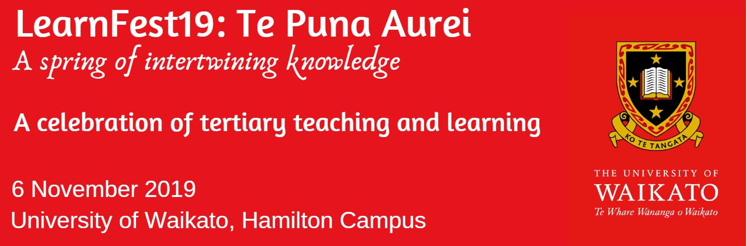 LearnFest19: Te Puna Aureo (title)