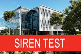 Siren test banner