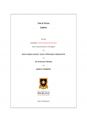 Thesis title page template