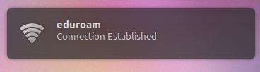 ubuntu connected