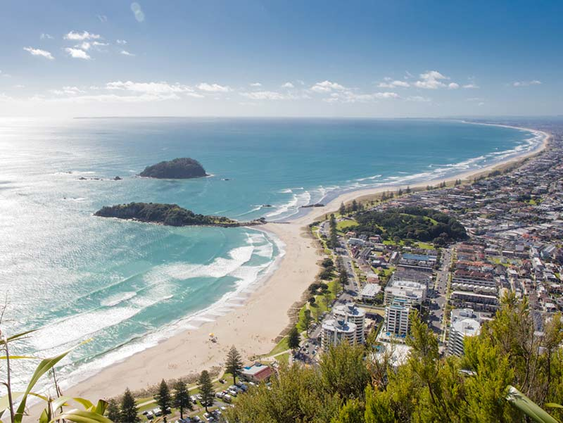 Aerial view of Mount Maunganui