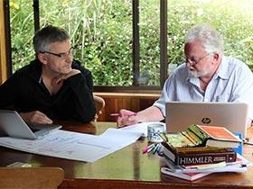 Vincent Ward, left, and Professor Daniel Fleming