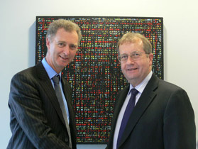 British High Commissioner George Fergusson and Vice-Chancellor Professor Roy Crawford