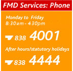 FMD services contact number